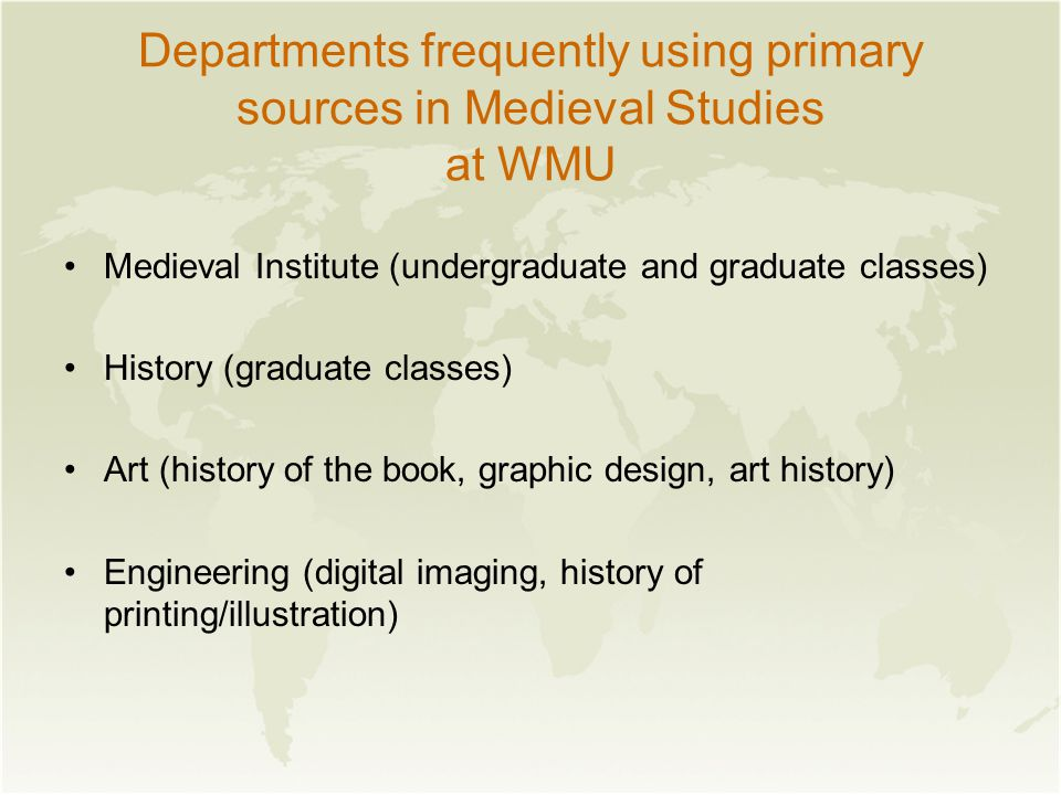 Center for Research Libraries: Medieval Resources March 9