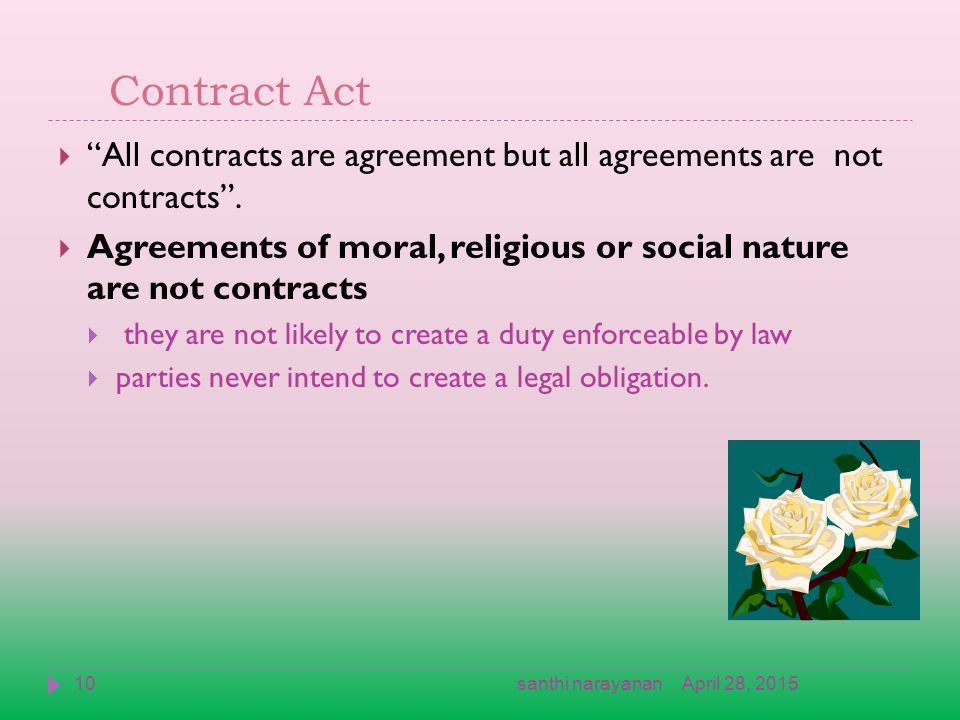 Indian Contract Act 1872 April 28 20151santhi Narayanan Ppt Download