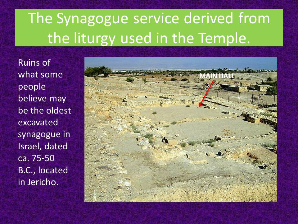 The Synagogue service derived from the liturgy used in the Temple.