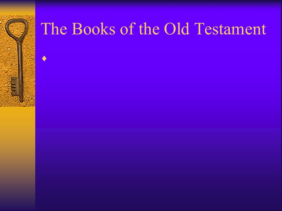 The Books of the Old Testament 