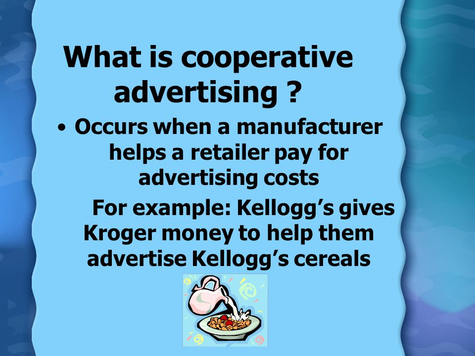 What is cooperative advertising .
