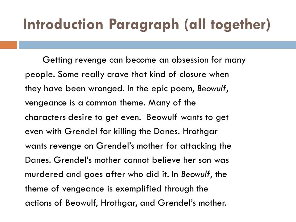 thesis statement for beowulf good vs evil