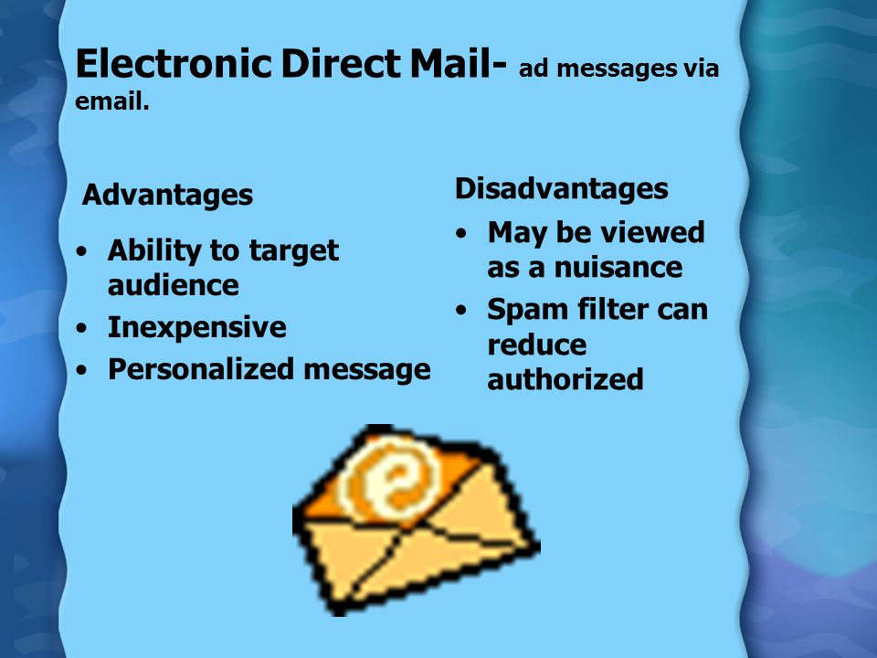 Electronic Direct Mail- ad messages via  .