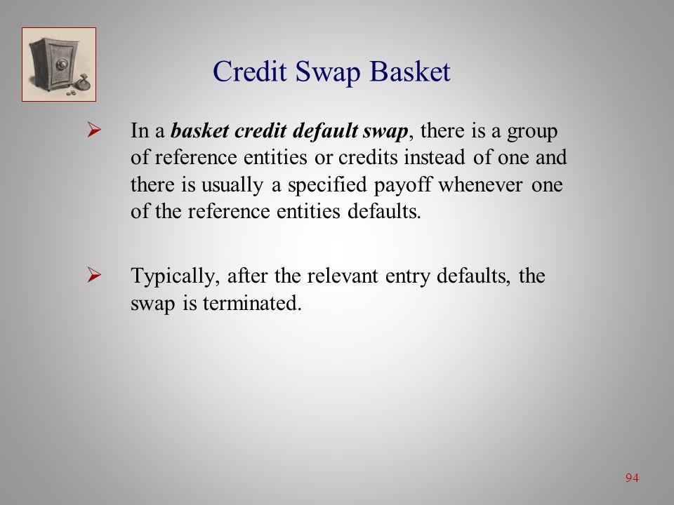 7 Credit Swaps Credit Default Swaps. 7 Generic Credit Default Swap