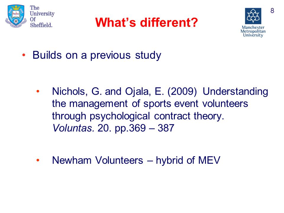 Understanding The Management Of Volunteers Through A Three Way