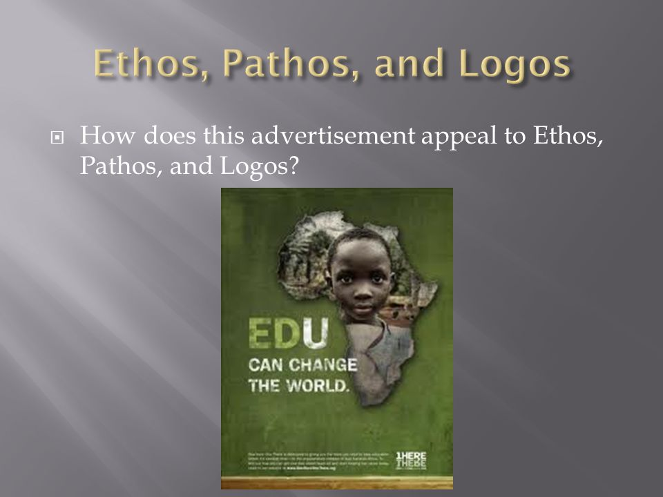  How does this advertisement appeal to Ethos, Pathos, and Logos