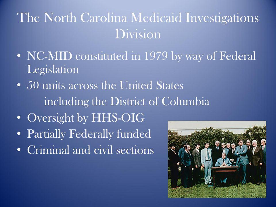 The Medicaid Investigations Division Douglas Thoren Special