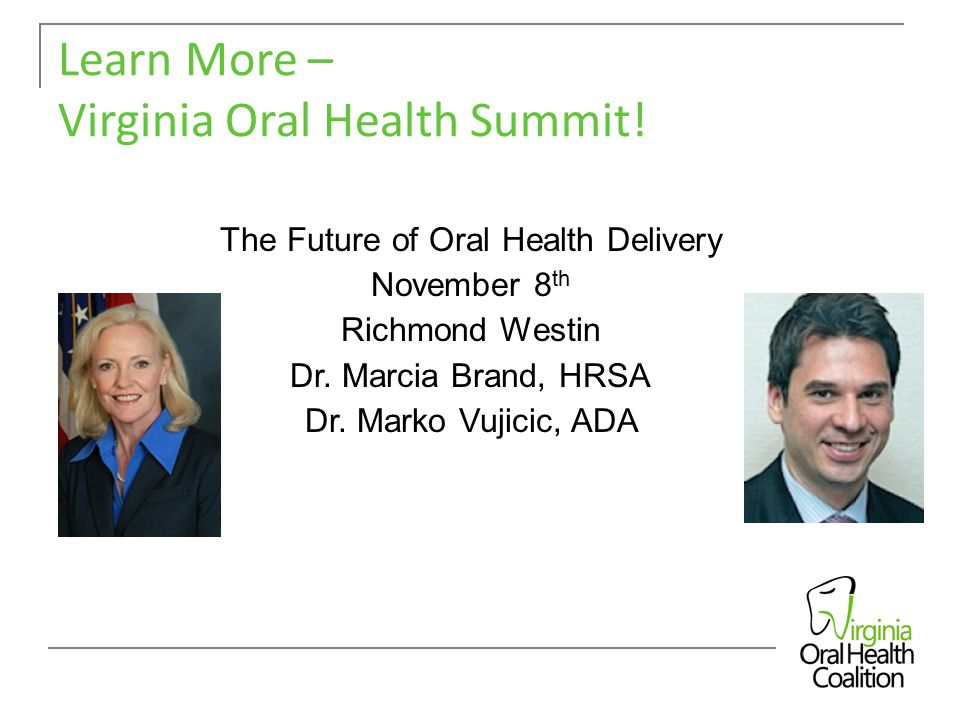 Learn More – Virginia Oral Health Summit.