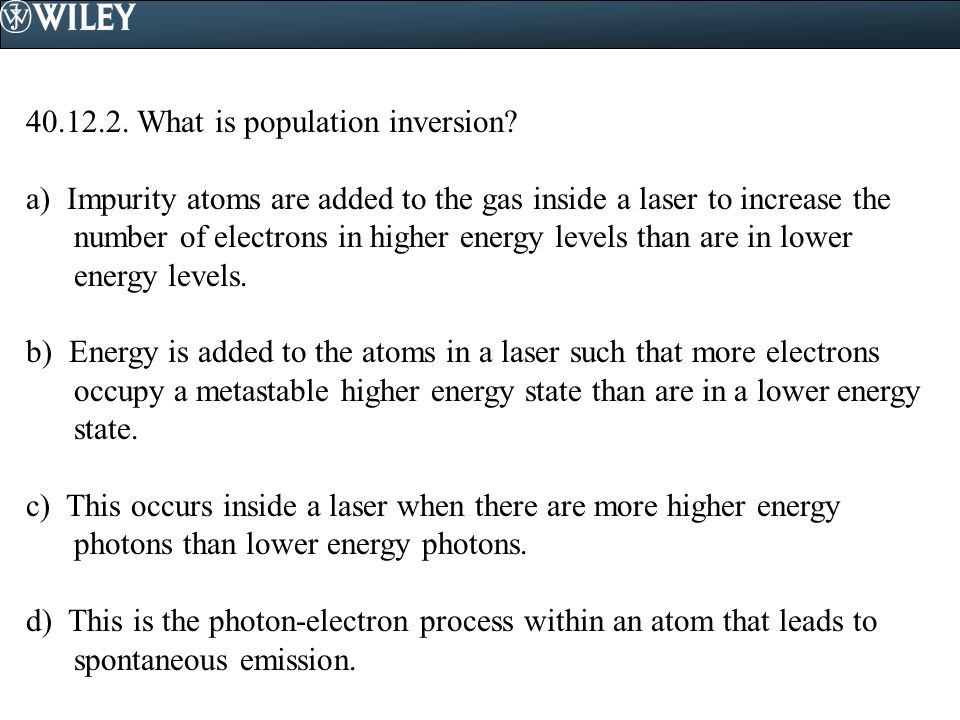 What is population inversion.