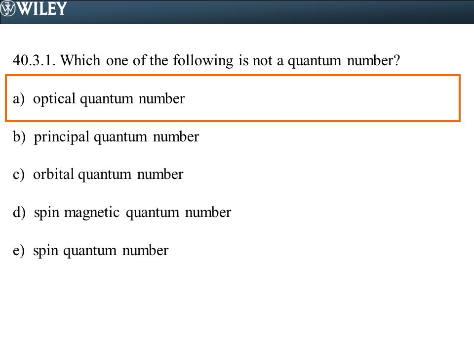 Which one of the following is not a quantum number.