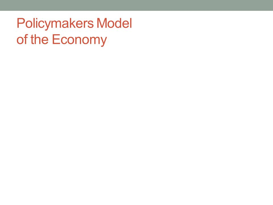 Policymakers Model of the Economy