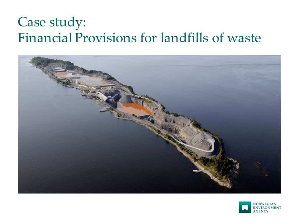 Case study: Financial Provisions for landfills of waste