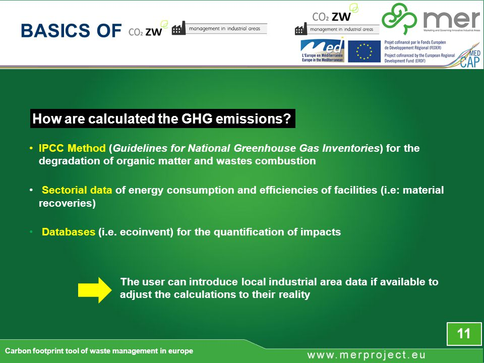 How are calculated the GHG emissions.