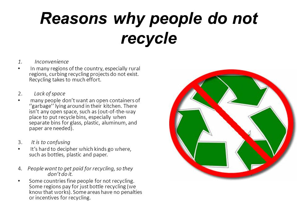 why people recycle