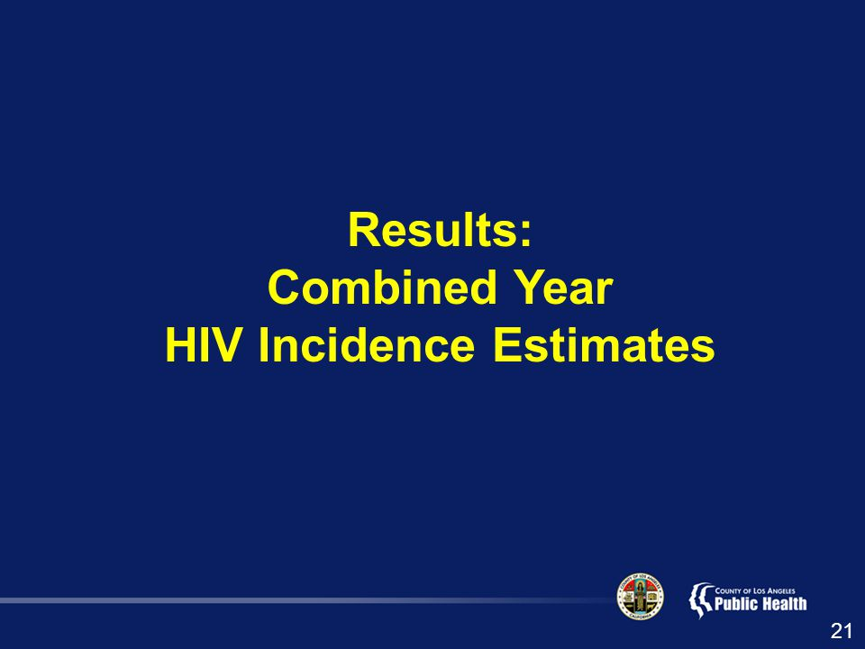 Results: Combined Year HIV Incidence Estimates 21
