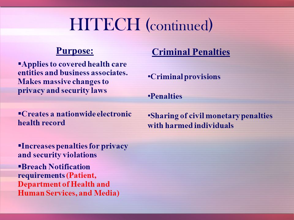 Health Information Technology for Economic and Clinical Health Act
