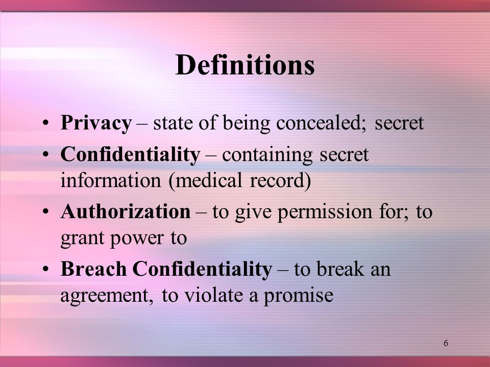 5 HISTORY This is just one example of why the Federal government needed to step in and assist in protecting patient privacy.