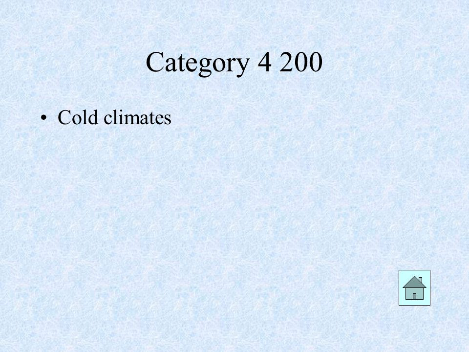Category Cold climates