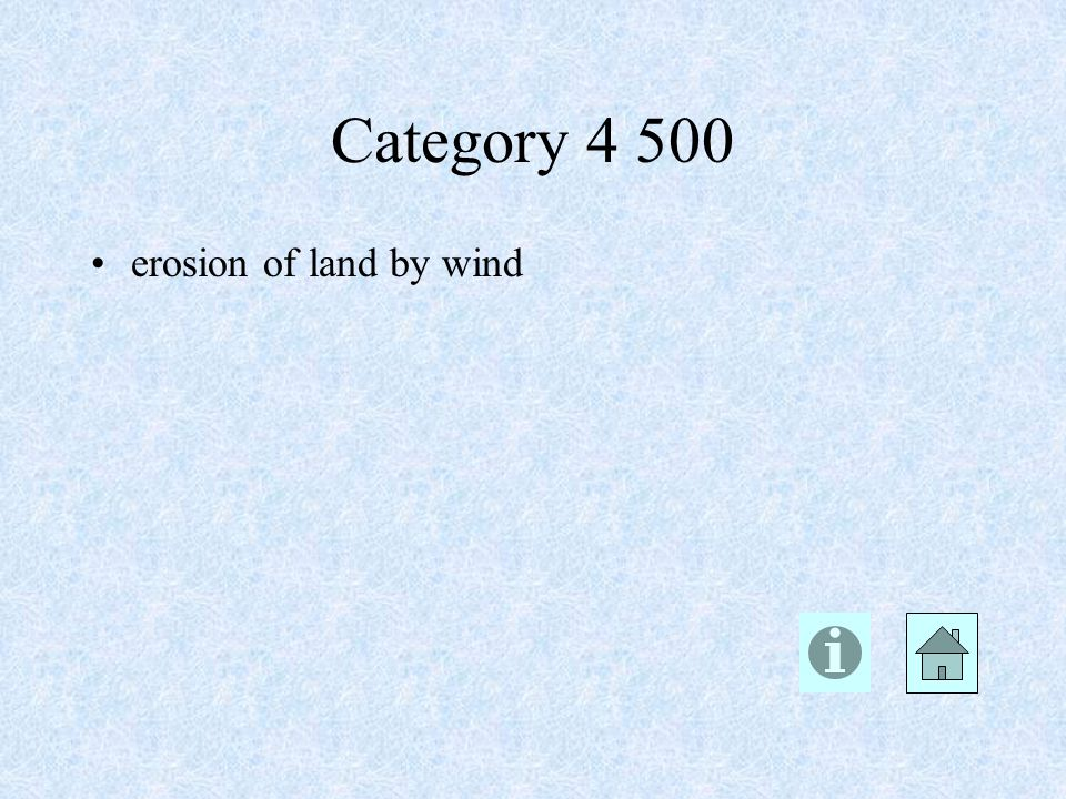 erosion of land by wind Category 4 500