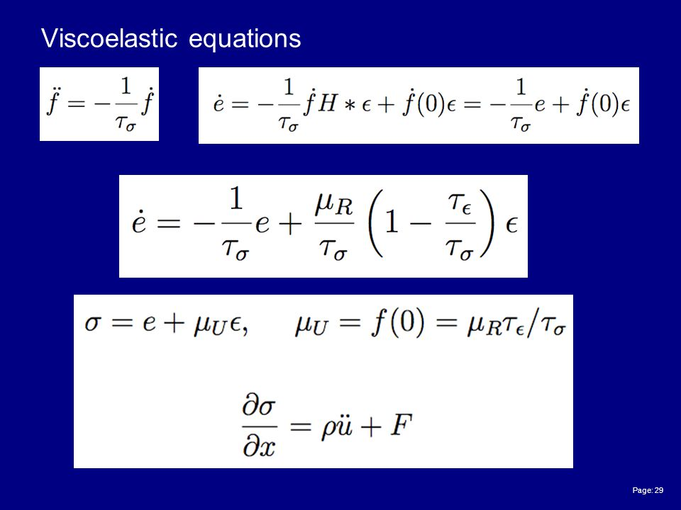 Page: 29 Viscoelastic equations