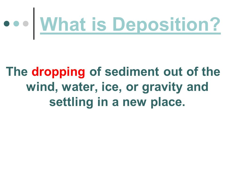 What is Deposition.