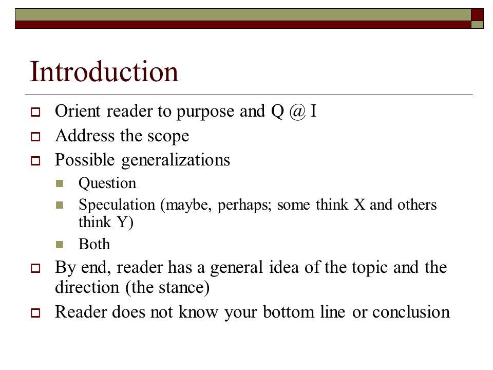 inductive organizational approach