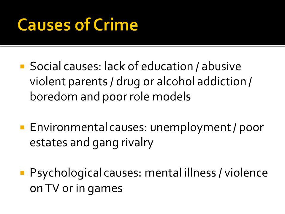 unemployment causes crime