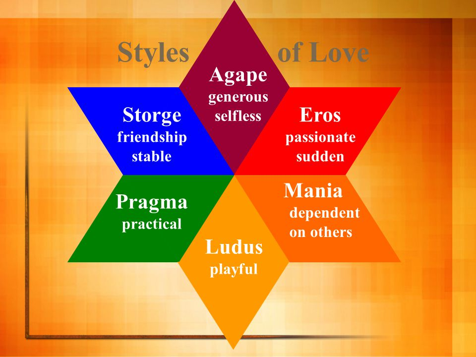 storge love style definition