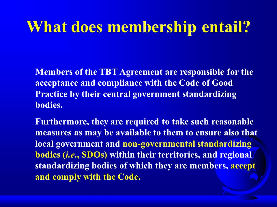 What does membership entail.