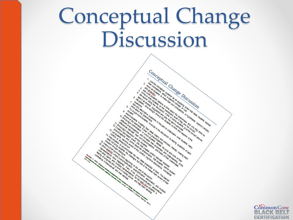 Conceptual Change Discussion