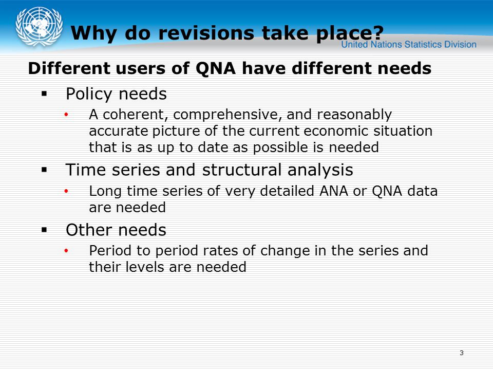 Why do revisions take place.