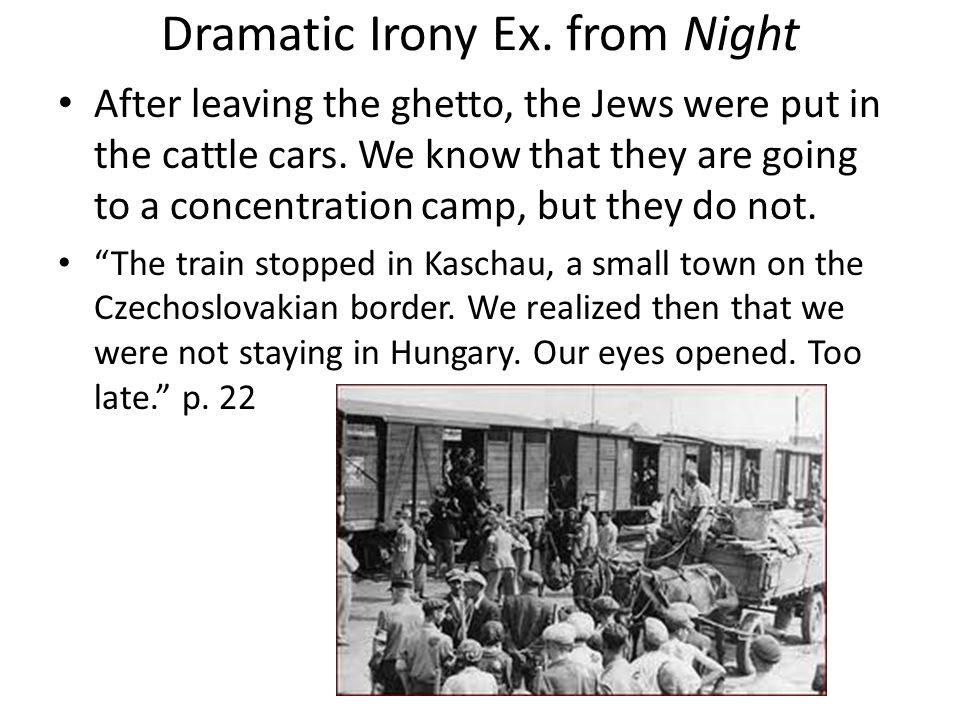 verbal irony in night