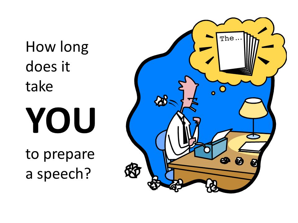 How long does it take YOU to prepare a speech