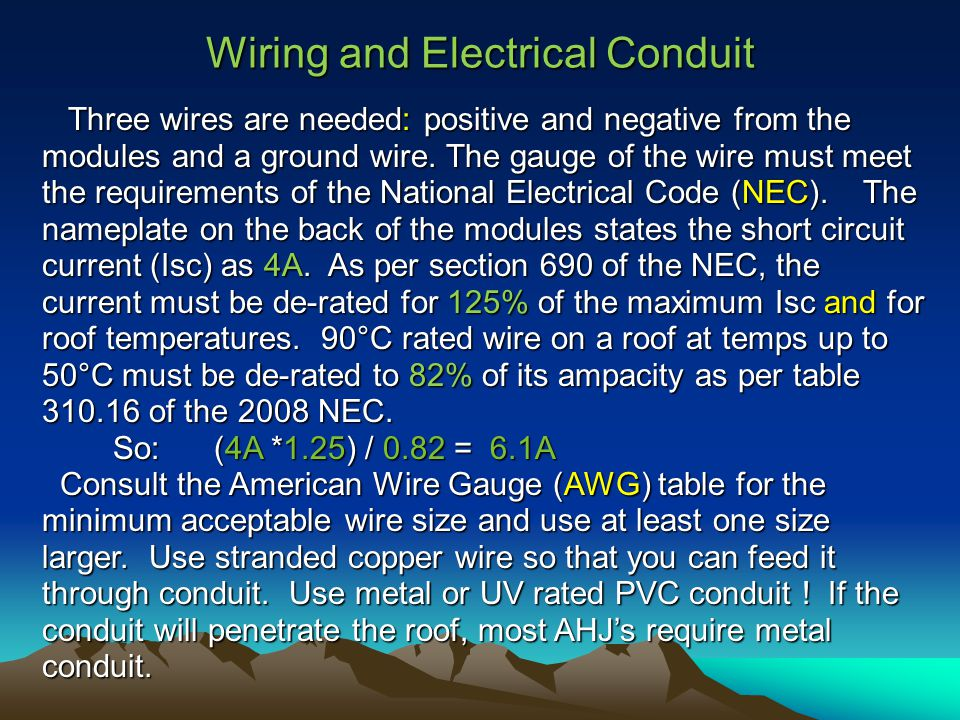 Zero energy swimming pool bruce l hesher ppt download wiring and electrical conduit three wires are needed positive and negative from the modules and greentooth Choice Image