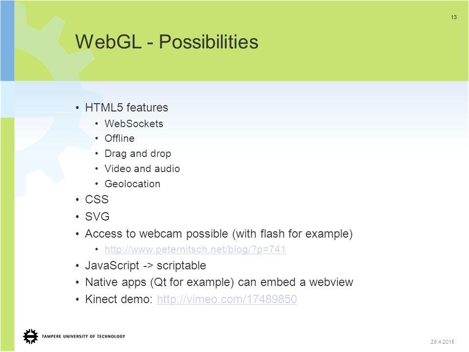 WebGL Seminar TUT Technical Overview Arto Salminen, Matti Anttonen