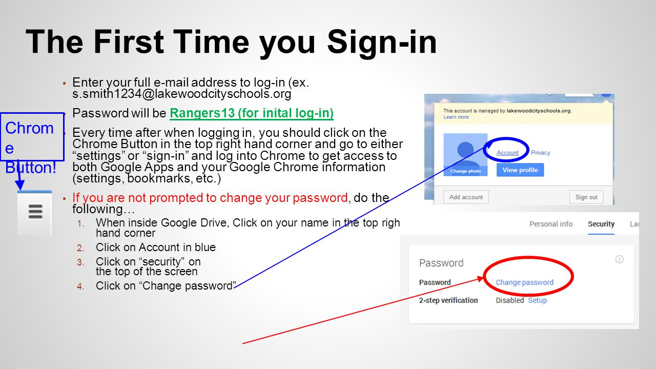 ▪ Enter your full  address to log-in (ex.