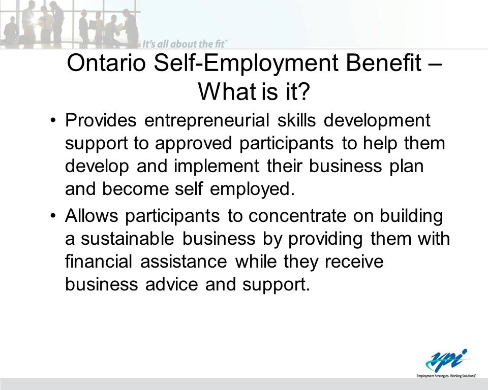 Ontario Self-Employment Benefit – What is it.