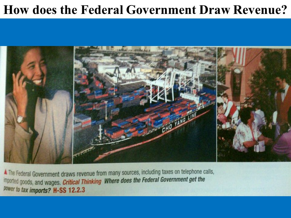 How does the Federal Government Draw Revenue