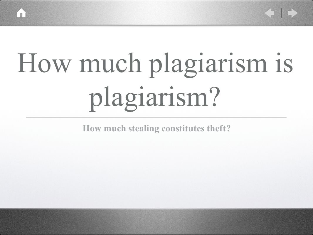 how much is plagiarism