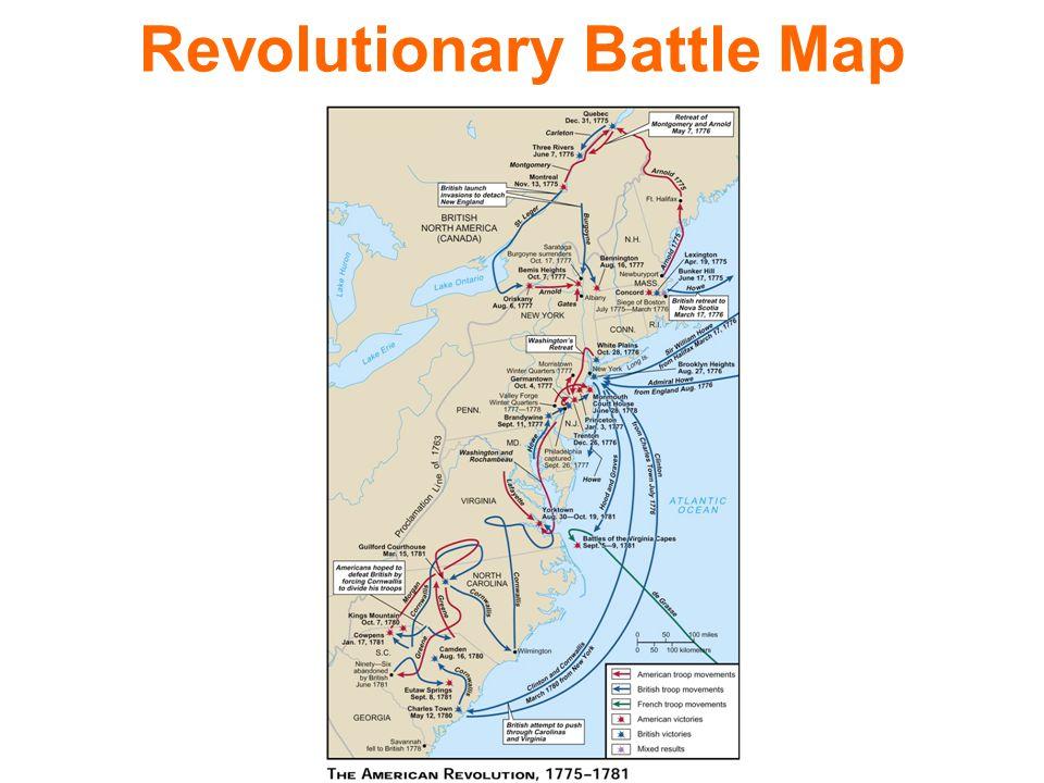 Revolutionary War Battles. Revolutionary Battle Map. - ppt download
