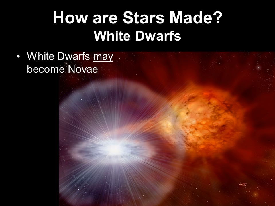 How are Stars Made White Dwarfs White Dwarfs may become Novae