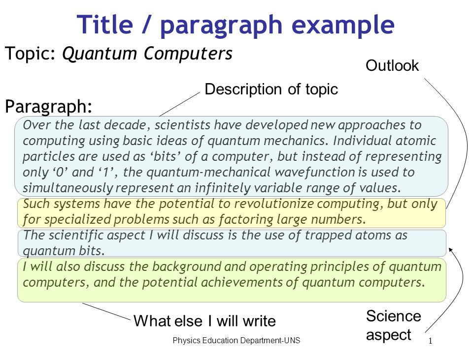 scientific paragraph example