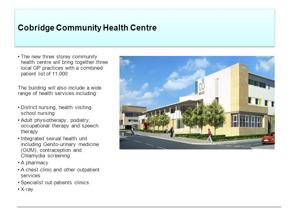 Cobridge community sexual health centre