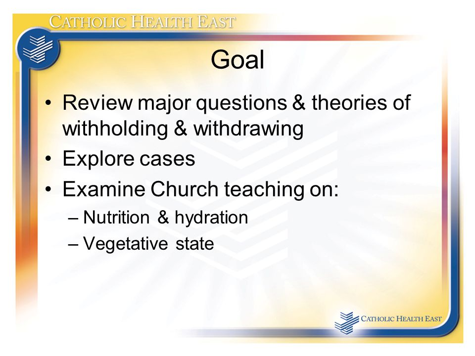 stopping nutrition and hydration at the end of life