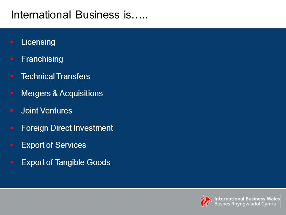 International Business is…..