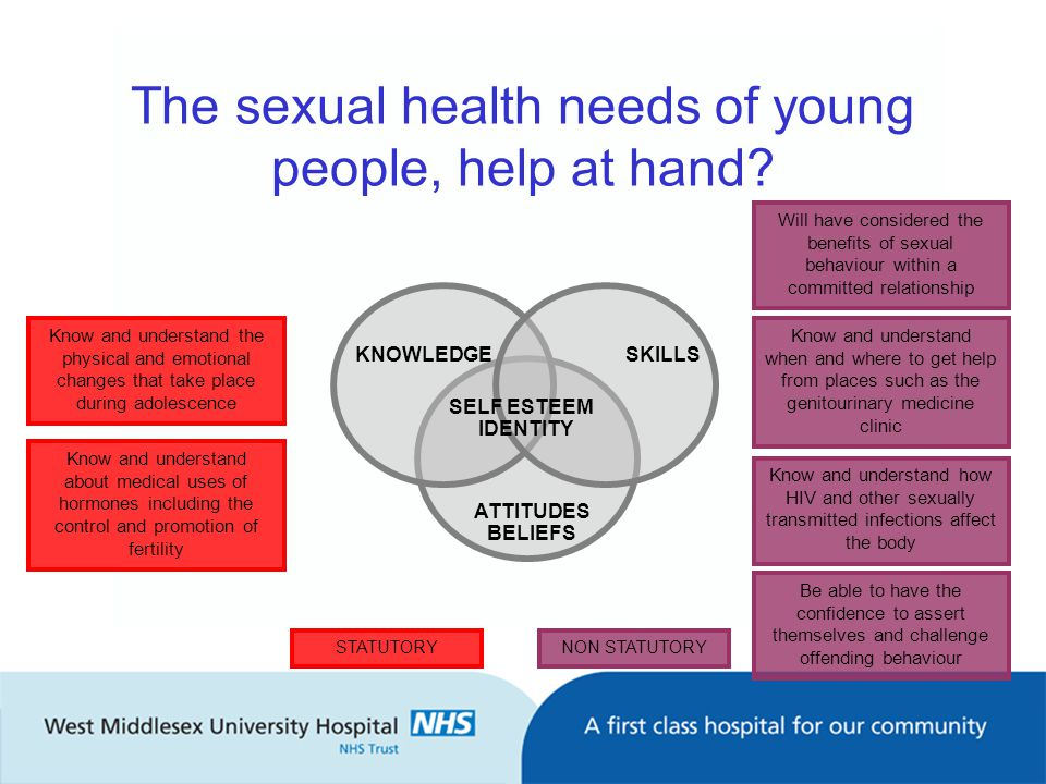 The sexual health needs of young people, help at hand.