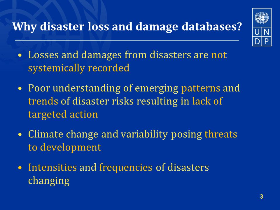 Why disaster loss and damage databases.