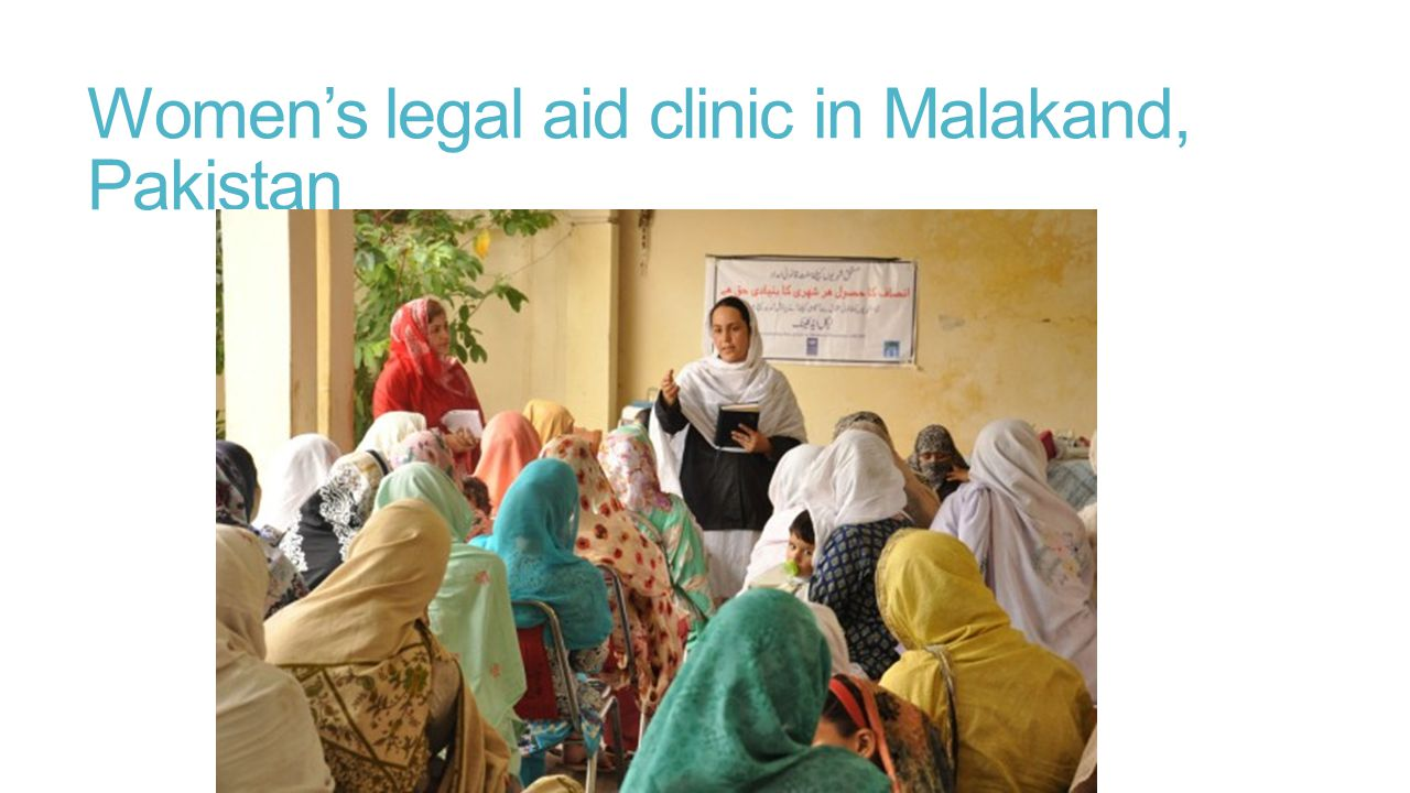 Women's legal aid clinic in Malakand, Pakistan