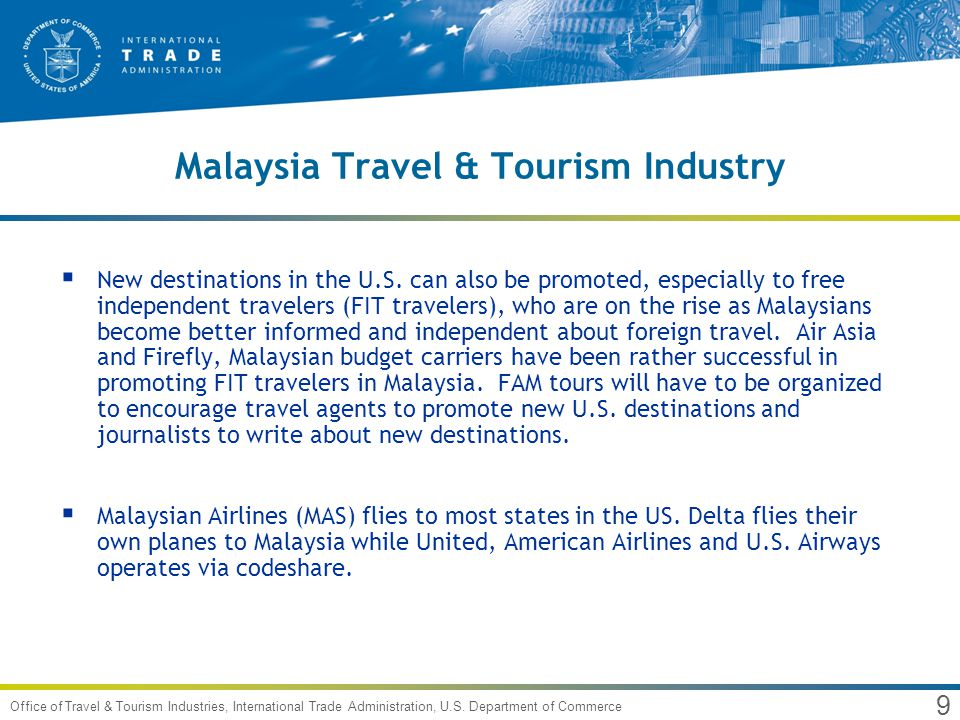 1 Office of Travel & Tourism Industries, International Trade