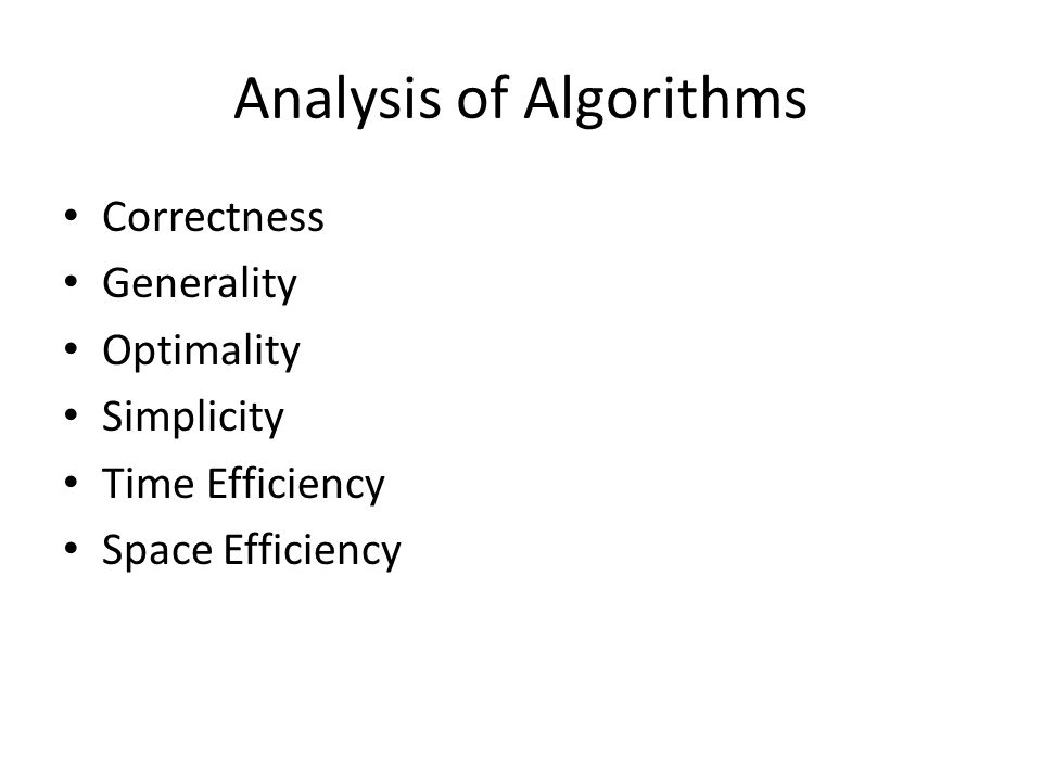 Intro To Analysis Of Algorithms Algorithm A Sequence Of